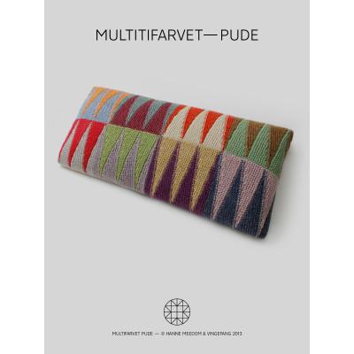 Multifarvet-Pude af Hanne Meedom