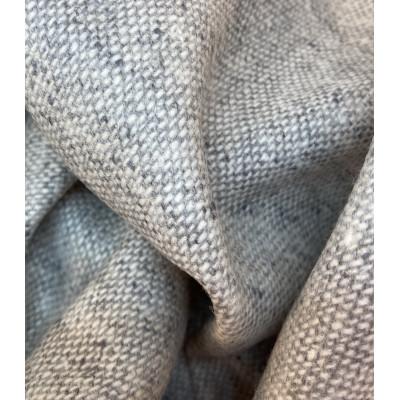 100 % Merino Tweed - Lysgrå - 150 cm