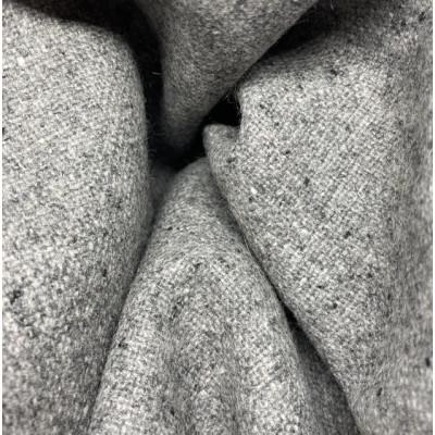 100 % Merino Tweed - Mellemgrå - 150 cm