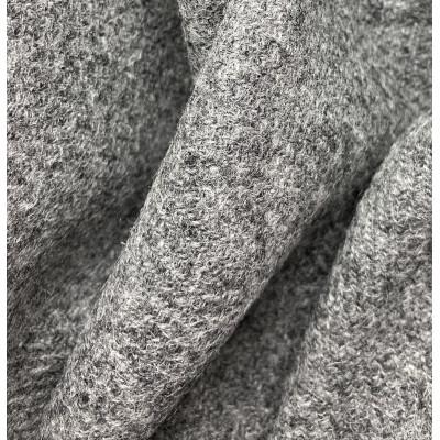 100% Shetland Uld mellemgrå - 150 cm