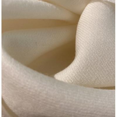 100 % Uld Flannel- Bianco- 150 cm