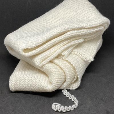 Silver Sparkle Sock Blank - 75% SW Merino 20% Nylon 5%...